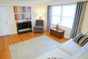 Affordable apartments in Norfolk VA living room