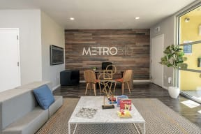 Leasing office with seating l Metro 510 in Riverside Ca