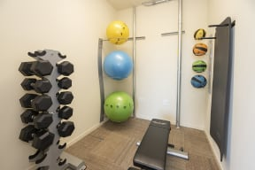 Fitness room  l Metro 510 in Riverside Ca