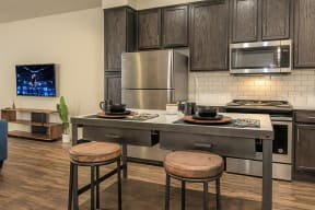Kitchen and living room l Metro 510 Apartment for rent in Riverside Ca