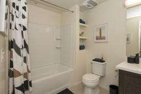 Bathroom l Metro 510 Apartment for rent in Riverside Ca