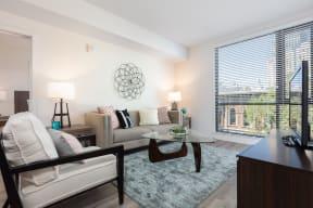 Pet-Friendly Apartments in Oakland, CA - 777 Broadway Living Room