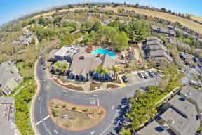 Aerial View of community Apartments in Pittsburg, CA l Kirker Creek Apartments