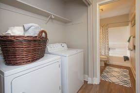 Washer Dryer by bath Apartments in Pittsburg, CA l Kirker Creek Apartments