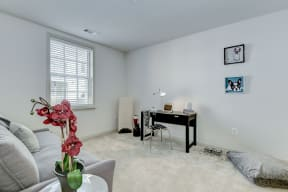 Living Room With Workstation at Garfield Park, Arlington, 22201