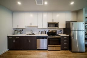 ModelHomes-GE stainless steel appliances
