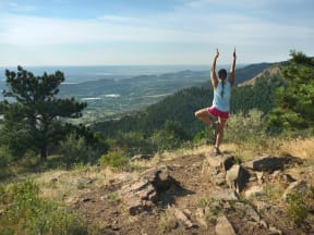 Enjoy Hiking and Yoga on Colorado Rocky Mountain at Windsor at Pinehurst, Lakewood, CO, 80235