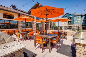 Rooftop seating at Windsor at Pinehurst, Colorado, 80235