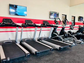 treadmill and elliptical equipment at apartments in round rock texas