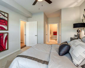 master bedroom for apartment unit in round rock texas