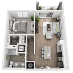 A1 Floor Plan at Inspira, Naples, FL, 34113