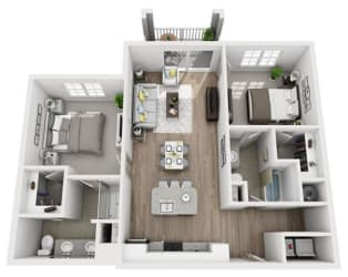 B1 Floor Plan at Inspira, Naples, 34113