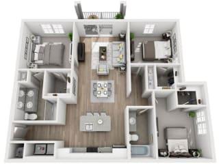 C1 Floor Plan at Inspira, Naples, FL, 34113