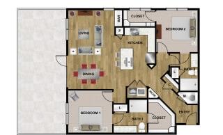 B3 Floor Plan at Brixton South Shore, Texas