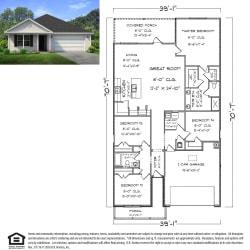 Ryder FE G Floor Plan, 4 Bed 2 Bath, 2031 SQ.FT.