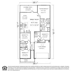 Ryder FE G Floor Plan 2, 4 Bed 2 Bath, 2031 SQ.FT.
