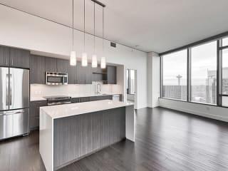 Penthouse kitchen at Cirrus, Seattle, Washington