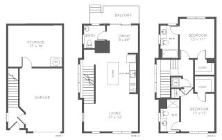 Floor Plan T2 Townhome