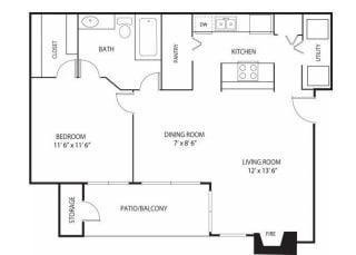 Eden Commons Apartments in Eden Prairie, MN 1 Bedroom 1 Bath