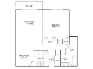 Medicine Lake Apartments in Plymouth, MN 1 Bedroom 1 Bathroom