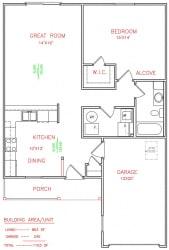 Floor Plan ASPEN Duplex