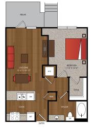 Ella Apartments A17 Floor Plan