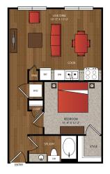 Ella Apartments A2 Floor Plan