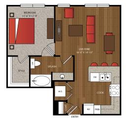 Ella Apartments A9 Floor Plan