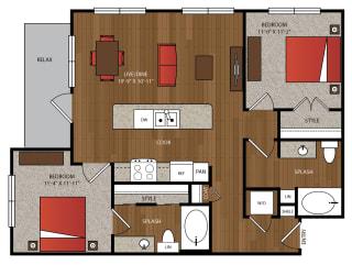 Ella Apartments B1 Floor Plan