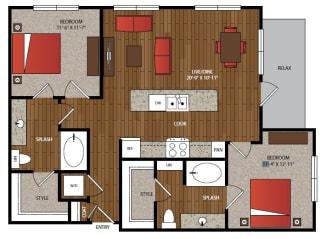 Ella Apartments B2.2 Floor Plan