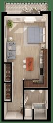 Anthem PDX Studio Floor Plan