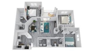 Zone Apartments Wildcat Floor Plan