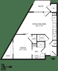 TriVista on Speer 1A0 Floor Plan