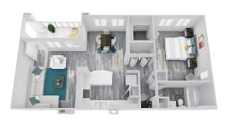 Zone Apartments Coyote Floor Plan
