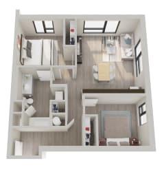 The Hixon Apartments B2 Floor Plan