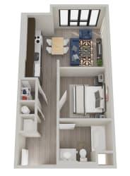 The Hixon Apartments S1 Floor Plan