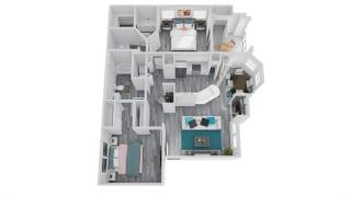 Zone Apartments Sun Floor Plan