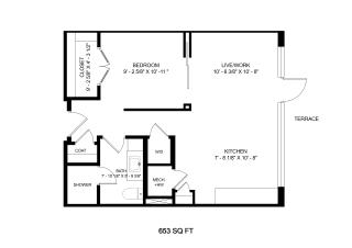 Mission Lofts Apartments Ambition 2D Floor Plan