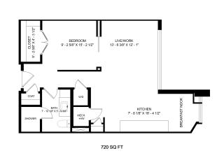 Mission Lofts Apartments Design 2D Floor Plan