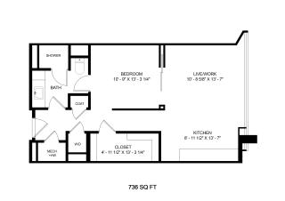 Mission Lofts Apartments Desire 2D Floor Plan