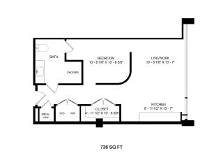 Mission Lofts Apartments Dream 2D Floor Plan