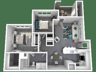 Lazo Apartments Edwards Floor Plan