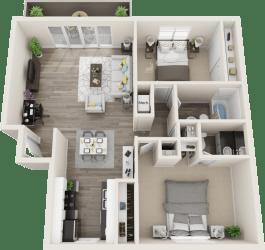 Hillside Gardens Apartments Hot Springs Floor Plan