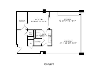 Mission Lofts Apartments Idea 2D Floor Plan