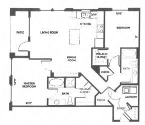 Laramer Arapahoe Denver, CO City House Apartments 2 bedroom 1 bath