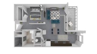 Mission Lofts Apartments 3D Ambition LIVE Floor Plan