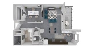 Mission Lofts Apartments 3D Ambition WORK Floor Plan