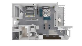 Mission Lofts Apartments 3D Ambition WORK LIVE Floor Plan