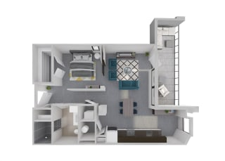 Mission Lofts Apartments Aspire Live 3D Floor Plan