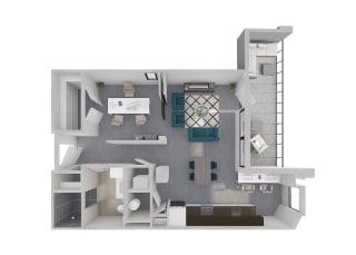 Mission Lofts Apartments Aspire Work 3D Floor Plan